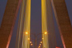 Lighting on the bridge