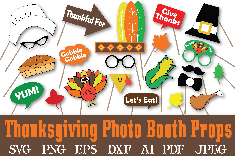 Thanksgiving Photo Booth Props Svg Pre Designed Illustrator Graphics Creative Market