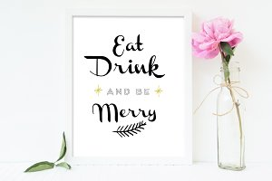 Eat Drink Be Merry Sign Printable