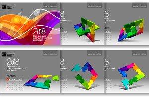 Set Desk Calendar 2018