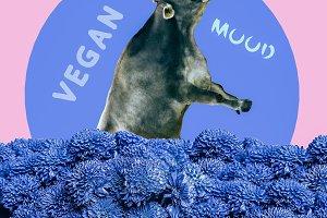Vegan mood Stylish design
