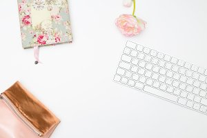 Styled mockup for feminine blog