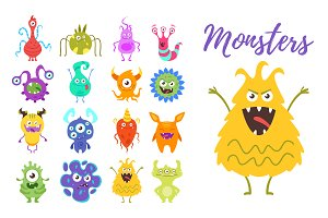 Bacteria monsters