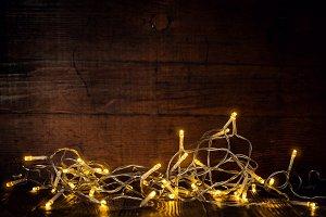 Glowing garland in dark