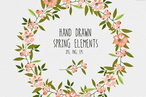 Hand drawn spring elements