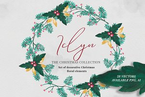 Iclyn - Christmas Floral Set