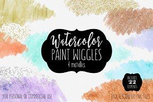 Watercolor Paint Forms & Metallics