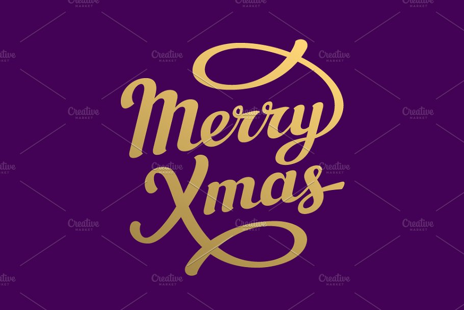 Merry Christmas Lettering.Merry Christmas Lettering Cards