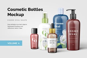 Cosmetic Bottles Mockup Vol.4