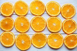 orange slices close-up