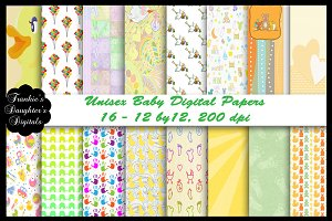 Unisex Baby Digital Paper Pack