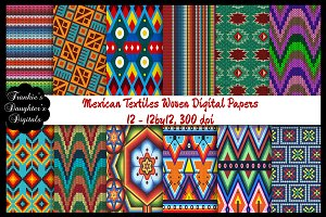 Aztec/Mexican Woven Digital Papers