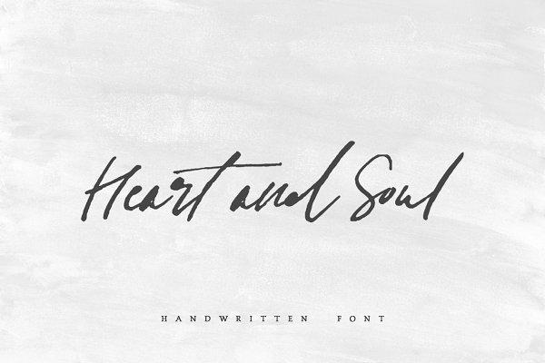 Heart + Soul   Handwritten Font