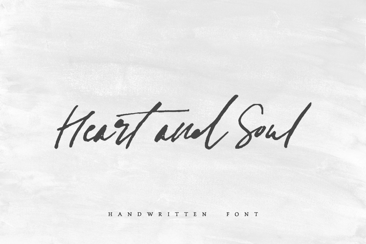 Heart + Soul | Handwritten Font in Handwriting Fonts - product preview 8