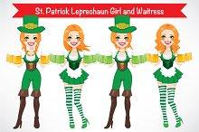 St. Patrick Leprechaun Girl Waitress