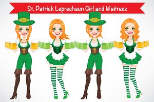 St. Patrick Leprechaun Girl Waitress