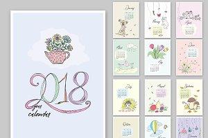 Doodle calendar for 2018