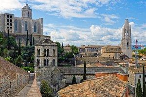 View of Girona city.Catalonia.Spain