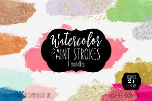 Watercolor Wash Brush Textures