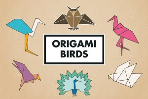 Origami Birds Clipart and Logos