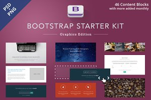 Bootstrap Starter Kit - PSD + PNG