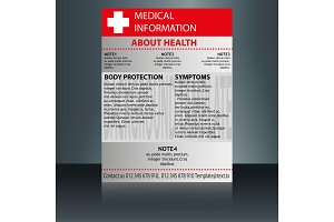 Medical Brochure Flyer Design Template A4 Size - Medical Brochure Template