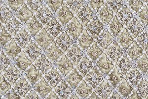 Beaded  Neutral Fabric Background