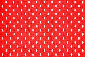 Red Perforated Fabric