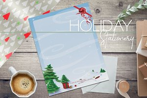 Christmas Tree Forest Stationery