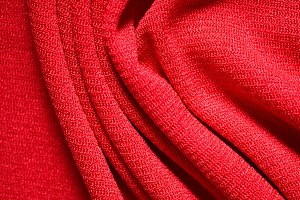 Red Folded Fabric Background