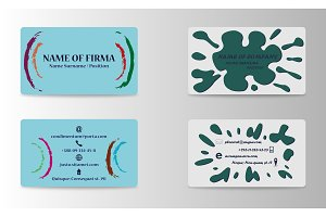 Vector modern creative and trending business cards set collection