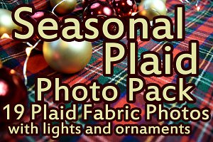 Holiday Plaid Fabric Photo Pack