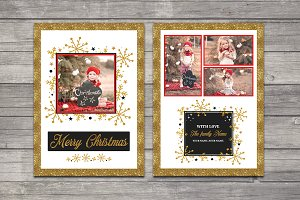 Christmas Card Template-V693