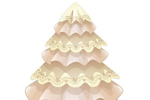 Christmas tree made of fabric.