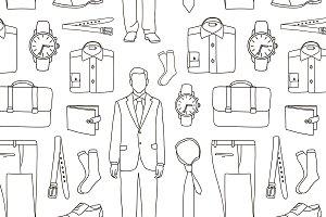 Businessman clothes pattern