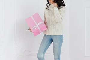Teen girl and gifts