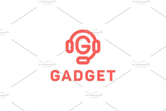 Gadget Earphone With Microphone Letter G Illustration Of A Modern Design