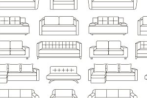 Sofa set pattern