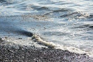 Fantastic sea ocean silver waves water photo