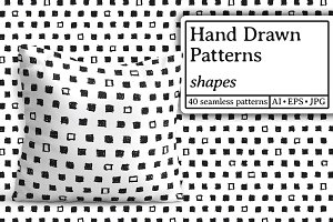 Hand drawn patterns. Shapes