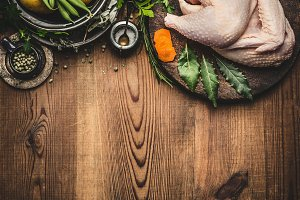 Whole chicken cooking background