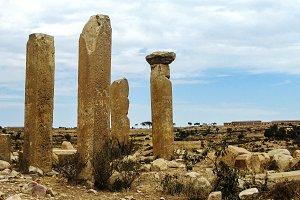 Ruined Temple of Mariam Wakino in Qohaito ancient city Eritrea