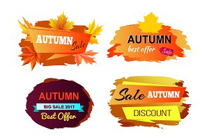 Autumn Sale Best Offer on Vector Illustration