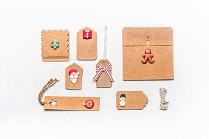 Christmas gift wrapping concept