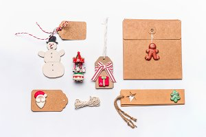 Christmas paper cardboard package