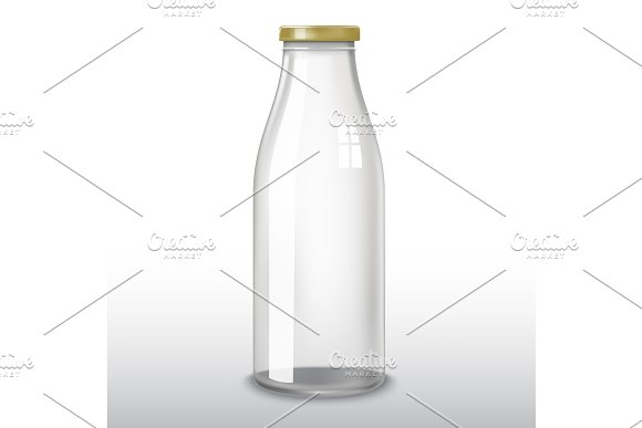 Traditional Glass Milk Bottle EPS-10