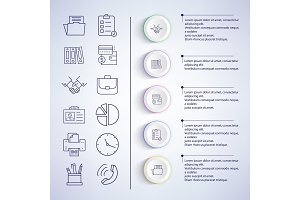 Infographic Set of Icons on Vector Illustration