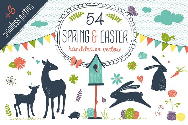 Spring & Easter Vector Set