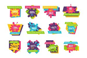 Big Super Sale Up to 90% Promotional Emblems Set