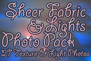 Sheer Fabric & Lights Photo Pack
